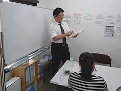 中学生の個別指導の授業風景